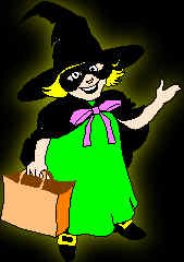 Kid in Witches costume